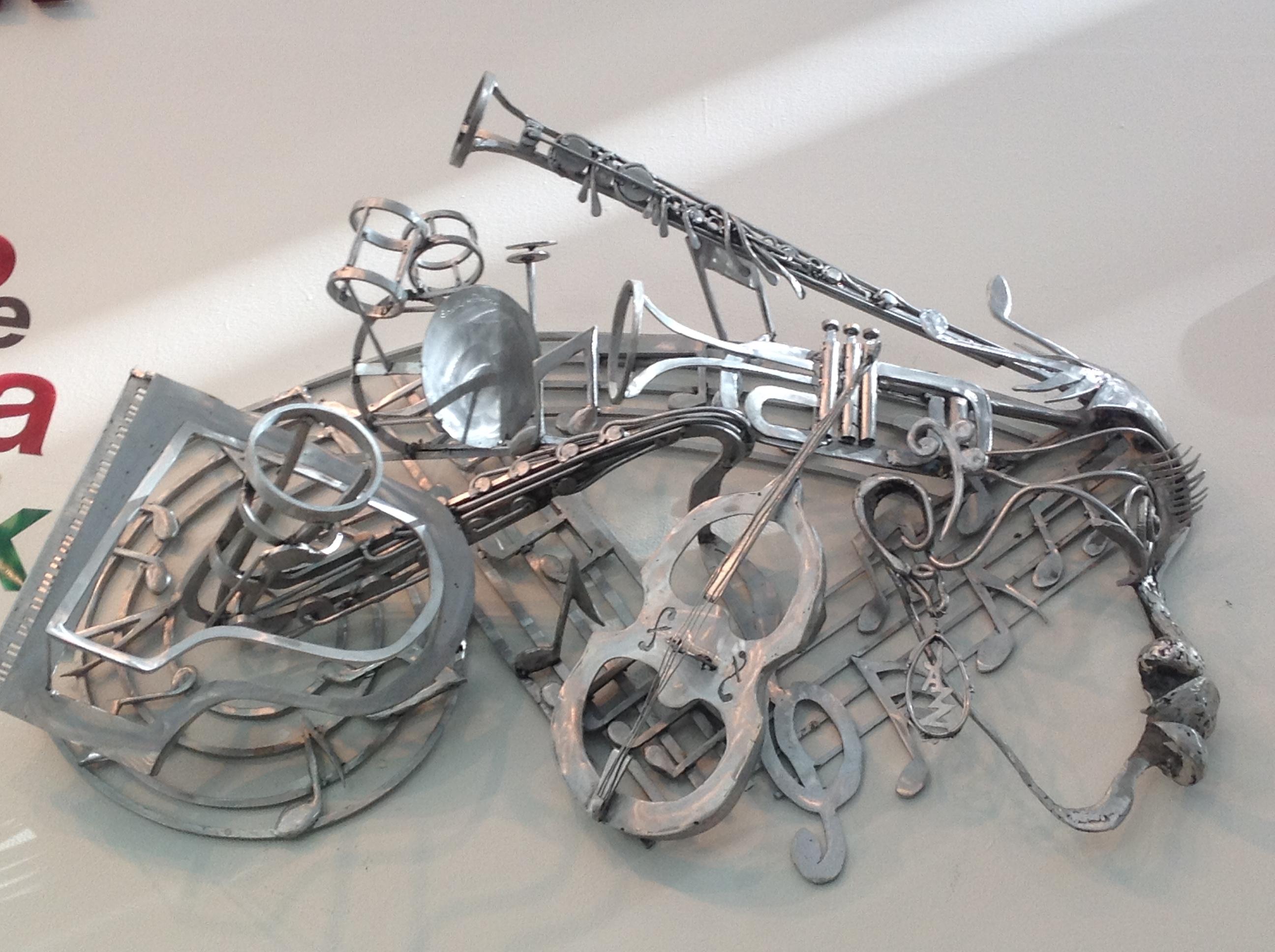 Détail de la sculpture intitulée Kamau Daaood